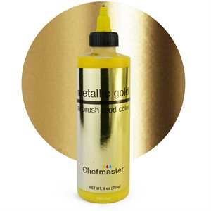 Metallic Gold Airbrush Color 9 Ounce By Chefmaster
