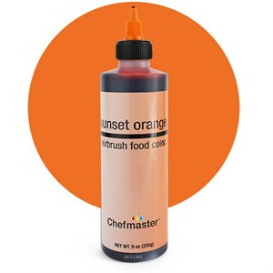 Sunset Orange Airbrush Color 9 Ounce By Chefmaster