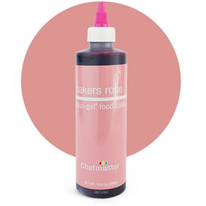 Bakers Rose Liqua-Gel Color -10.5 ounce By Chefmaster