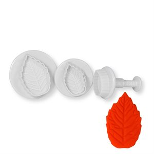 Rose Leaf Plunger Set Large