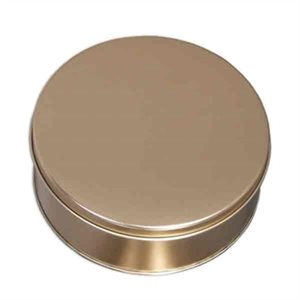 Gold Cookie Tin 7 Inch