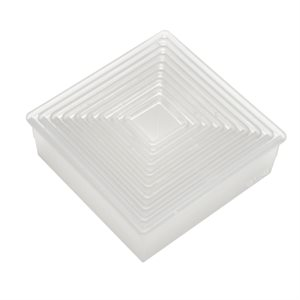 Plain Square Cookie and Pastry Cutter