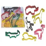 Safari Animal Cookie Cutter Poly Resin Set of 6