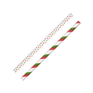 "Christmas Red & Green 6"" Lollipop Sticks 30 Ct"