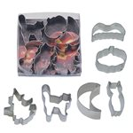Mini Halloween Cookie Cutter Poly Resin Set of 6