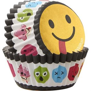 Emoji Mini Cupcake Liner -100 ct By Wilton