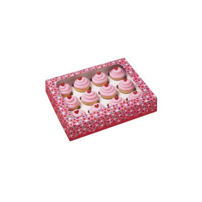 12 cavity Valentine Mini Cupcake Box