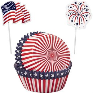 Red, White & Blue Cupcake Combo Pack-24 ct By Wilton