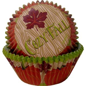 Cozy Fall Standard Baking Cups-75 CT By Wilton