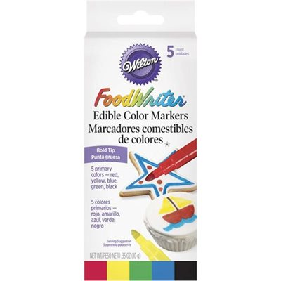Foodwriter Primary Colors Edible Color Markers By Wilton