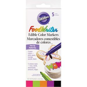 Neon Foodwriter Edible Color Markers By Wilton