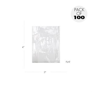 Cellophane Bags  3 X 4 Inch Flat Pack of 100