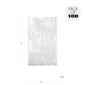 Cellophane Bags 3 x 5 Inch Flat Pack of 100
