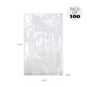Cellophane Bags 5 3 / 4 x 7 3 / 4 Inch Flat Pack of 100