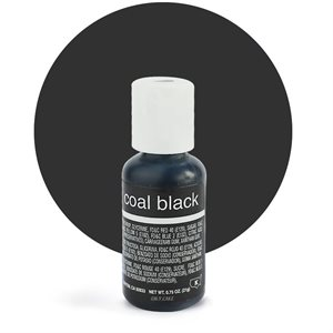 Coal Black Liqua-Gel Color - .70 ounce By Chefmaster