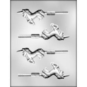 Unicorn Lollipop Chocolate Candy Mold 3 Inch