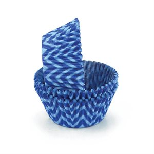 Chevron Blue Standard Cupcake Baking Cup Liner
