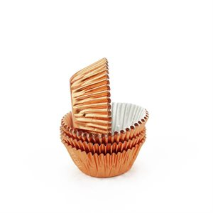 Copper Foil Mini Cupcake Baking Cup Liner
