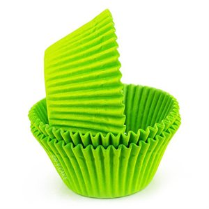 Lime Green Greaseproof Jumbo Cupcake Baking Cup Liner