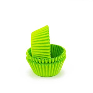 Lime Green Mini Cupcake Baking Cup Liner
