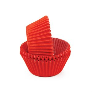 Red Glassine Standard Cupcake Baking Cup Liner