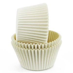 White Greaseproof Jumbo Cupcake Baking Cup Liner