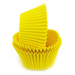 Yellow Greaseproof Jumbo Cupcake Baking Cup Liner