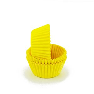 Yellow Mini Cupcake Baking Cup Liner