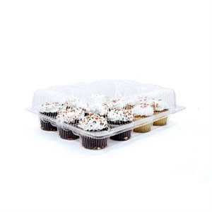 Mini Cupcake Box Clear 12 Cavity Hinge