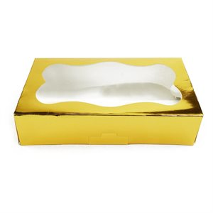 Gold Cookie Box 1 Pound