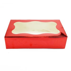 Red Cookie Box 1 Pound