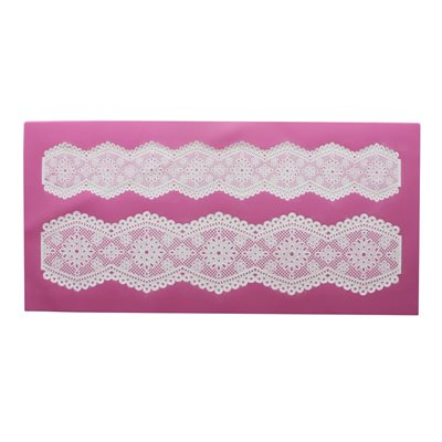 Broderie Anglais Half Cake Lace Mat By Claire Bowman