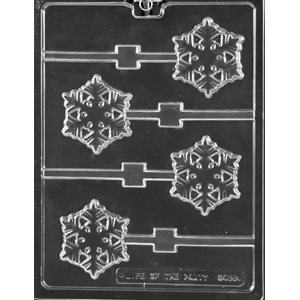 Frozen Snowflake Lollipop Chocolate Candy Mold