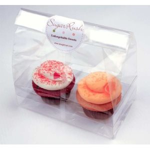 Cupcake Bag Standard Holds 2 Cupcakes 7 X 4 9 Inch Pack Of 100