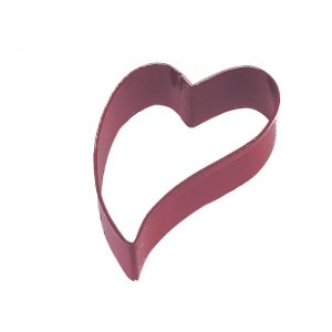 Folk Heart Cookie Cutter Poly Resin 3 Inch