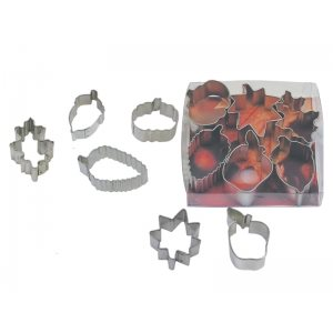 Mini Leaf Cookie Cutter Set 6 Pcs.