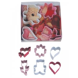 Mini Valentine Cookie Cutter Set Poly Resin 6 Pcs.