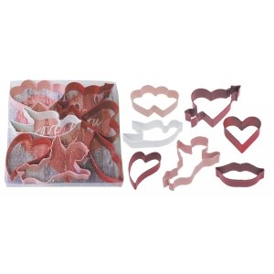 Valentine Cookie Cutter Set Poly Resin 7 Pcs.