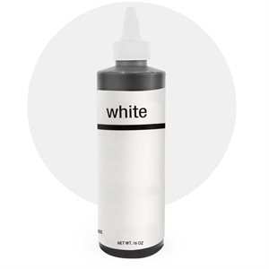 White Liquad-Gel Color - 16 ounce By Chefmaster
