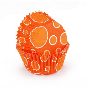Orange Dots Standard Cupcake Baking Cup Liner -Pack of  32