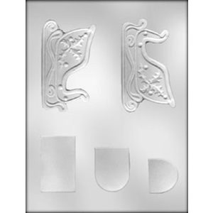 3D Sleigh Chocolate Candy Mold 4 1 / 4 Inch