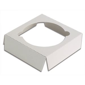 "White Cupcake Insert Only Holds 1 Standard Cupcake 3"" x 3"" Box- 1 PC"