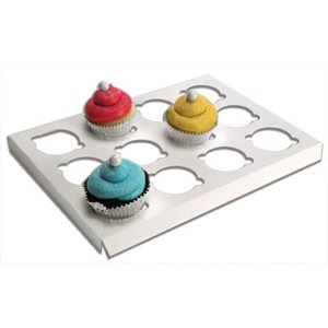 White Mini Cupcake Insert Only Holds 12 mini cupcakes- 1 PC
