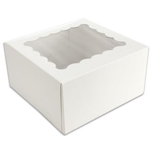 White Cupcake Box Holds 4 Standard Cupcakes