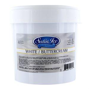Satin Ice Rolled Fondant Icing White Buttercream 2 Pounds