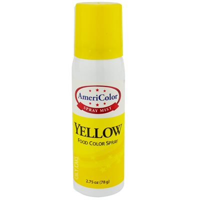 Yellow Food Color Spray 2.75 Ounce By Americolor