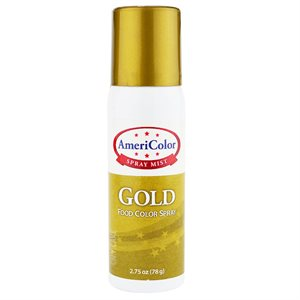 Gold Food Color Spray 2.75 Ounce By Americolor