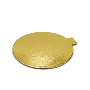 3 1 / 8 Inch Gold Mini Dessert Cake Board