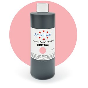 Dusty Rose Gel Paste 13.5  ounces By Americolor