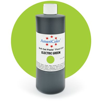 Electric Green Gel Paste 13.5  ounces By Americolor